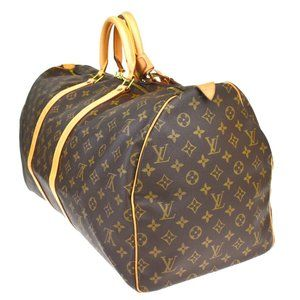 LOUIS VUITTON KEEPALL 55 HAND BAG MONOGRAM LEATHER